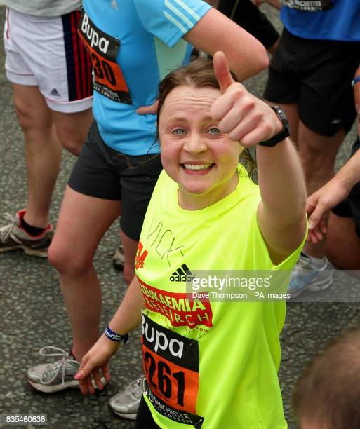Coronation Street actress Vicky Binns at the end of the Manchester 10k run during the BUPA Great Manchester Run and Great City Games in Manchester