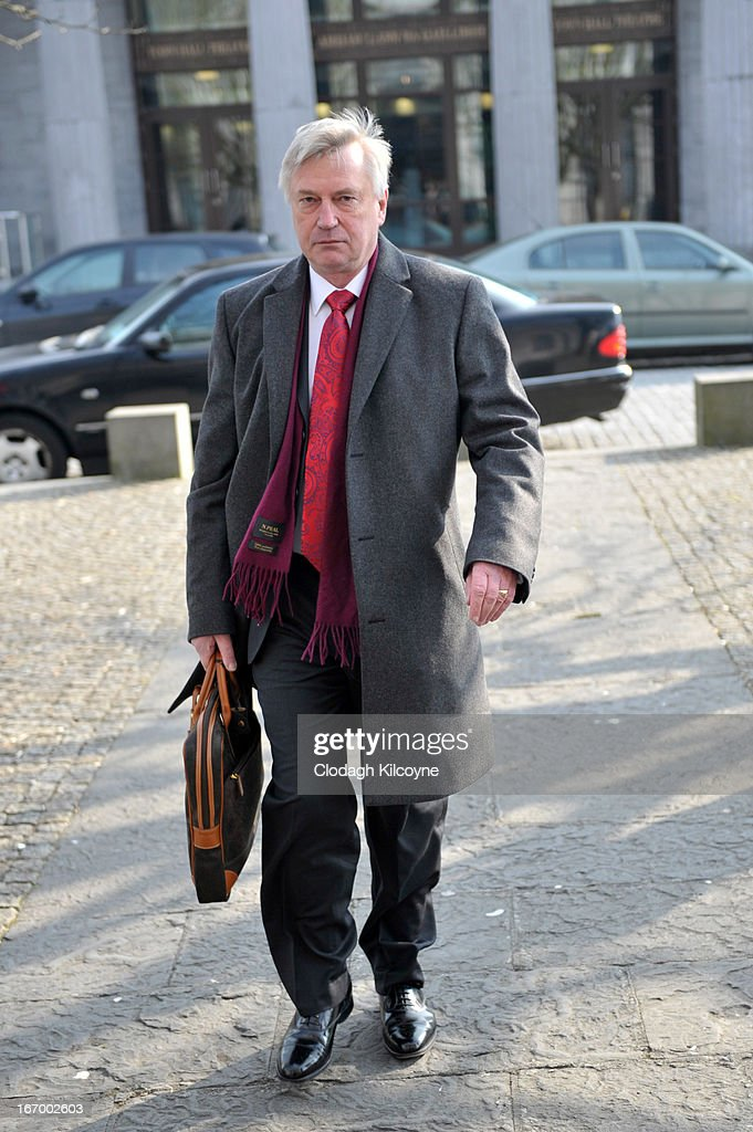 Coroner Dr Ciaran MacLoughlin arrives for the inquest of Savita Halappanavar at Galway City Hall on April 19, 2013 in Galway, Ireland. Savita Halappanavar was 17 weeks pregnant when admitted to University Hospital Galway on October 21, 2012, with an inevitable miscarriage. The 31 year old died a week later in intensive care from multi-organ failure from septic shock and E.coli, four days after she delivered a dead foetus.