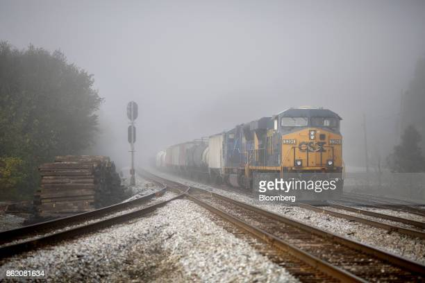Corp freight train sits parked in Worthville Kentucky US on Friday Oct 13 2017 CSX is scheduled to release earnings figures on Oct 17 Photographer...