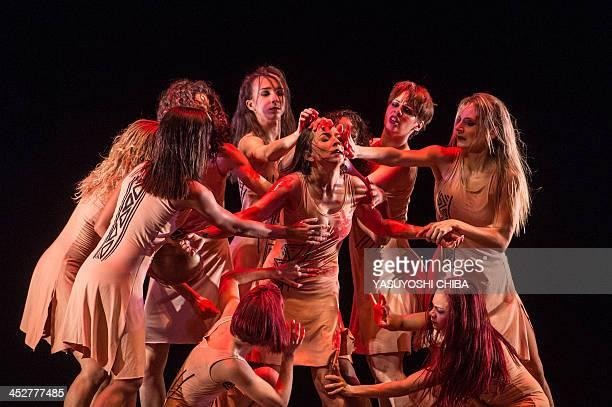 Corpo de Danca do Amazonas and the Amazonas Philharmonic Orchestra perform at the Amazonas Theatre in Manaus Brazil on November 27 2013 The opera...