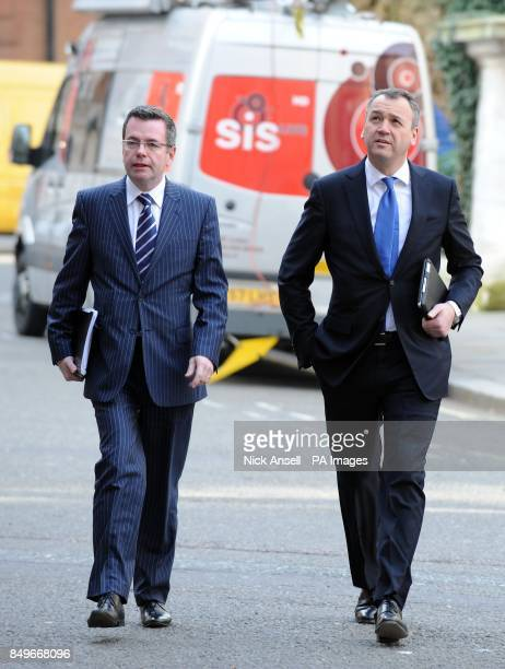 Corporate Affairs Director Paul Kelly and ASDA Chief Executive Officer Andy Clarke arrive for a meeting with Environment Secretary Owen Paterson and...
