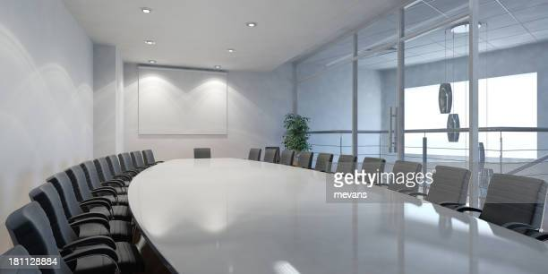 A corporate boardroom where all important meetings are held