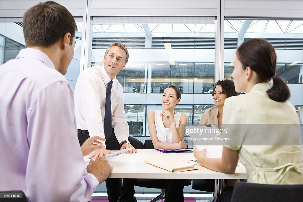 A corporate business meeting : Stock Photo