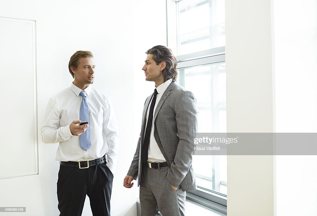 Corporate businessmen having casual meeting : Stock Photo