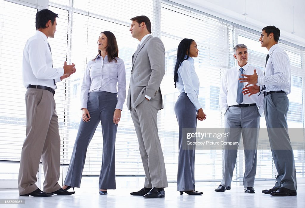 Corporate people discussing : Stock Photo