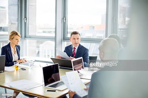 Corporate professional having a meeting