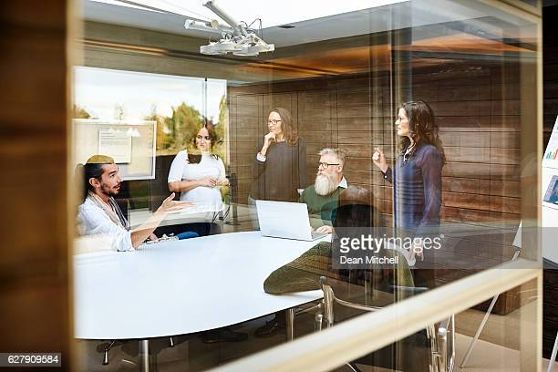 Corporate professionals meeting in conference room
