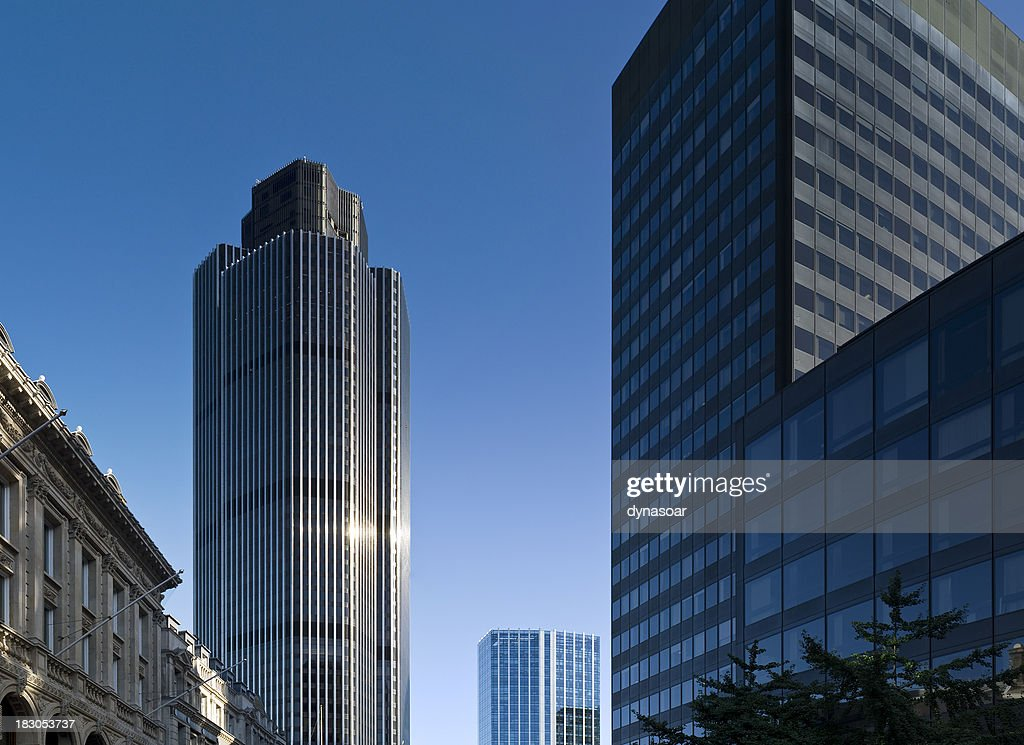 Corporate skyscrapers in the heart of London