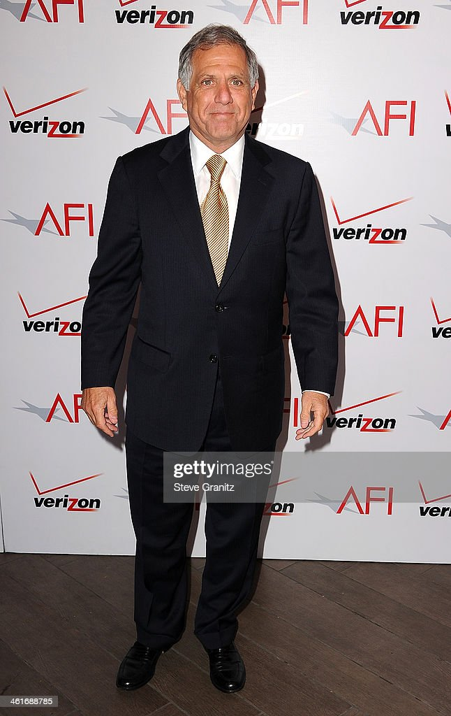 Corporation Chairman/CEO Leslie Moonves attends the 14th annual AFI Awards Luncheon at the Four Seasons Hotel Beverly Hills on January 10 2014 in...