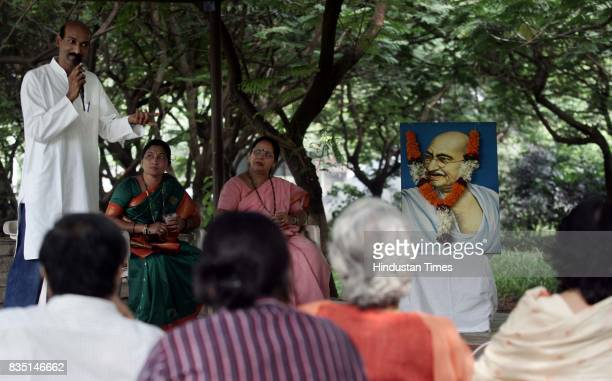Corporators Adolf D'Souza Jyotsna Dighe and Chhaya Bhanji assembled at the Juhu Kaifi Azmi Park on Gandhi Jayanti for a question answer session with...