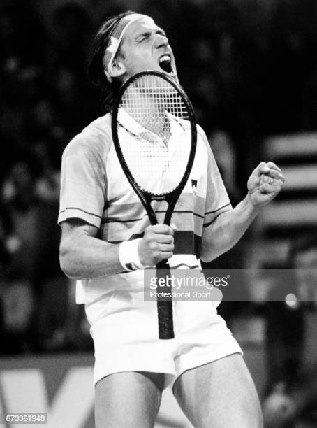 Corrado Barazzutti of Italy during his match against Colin Dowdeswell of Great Britain during the Davis Cup Great Britain v Italy in Telford England...