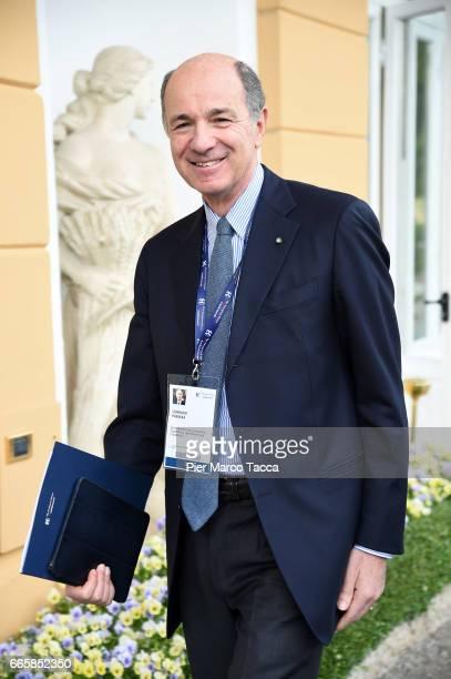 Corrado Passera attends 'Lo Scenario dell'Economia e della Finanza' forum at Villa d'Este Hotel on April 7 2017 in Como Italy 'The Outlook for the...