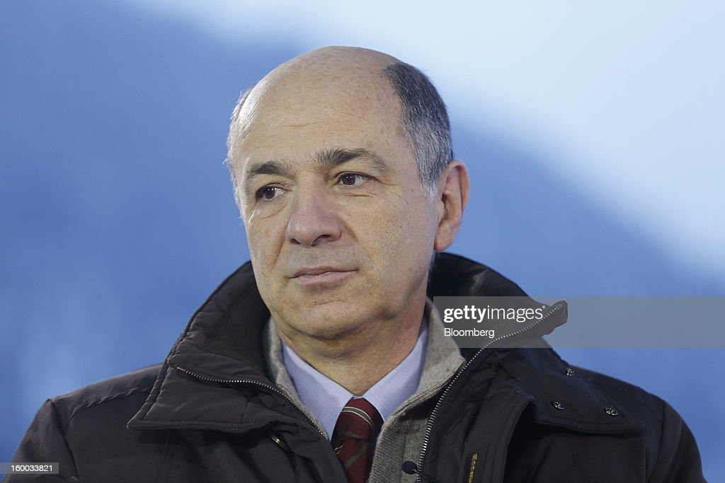 Corrado Passera, Italy's economic development minister, pauses during a Bloomberg Television interview on day three of the World Economic Forum (WEF) in Davos, Switzerland, on Friday, Jan. 25, 2013. World leaders, influential executives, bankers and policy makers attend the 43rd annual meeting of the World Economic Forum in Davos, the five day event runs from Jan. 23-27. Photographer: Simon Dawson/Bloomberg via Getty Images