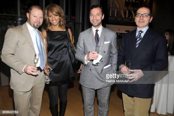 Corrado Speziali Jacqueline Page Mauro Visentini and Paolo Torello Viera attend ITALIAN TRADE COMMISSION Kicks Off MADE IN ITALY On Madison at The...