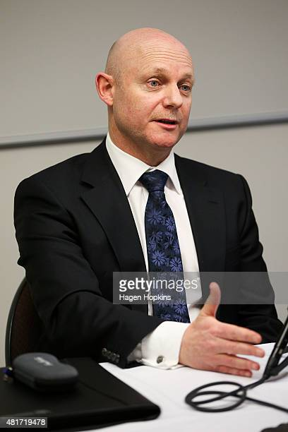Corrections Chief Executive Ray Smith speaks to the media at the Beehive on July 24 2015 in Wellington New Zealand Smith is considering legal advice...