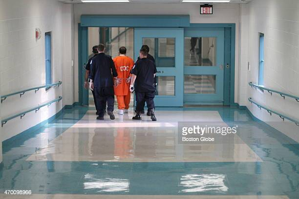 Corrections officers moved an inmate in leg and handcuffs at SouzaBaranowski Correctional Center the maximumsecurity prison in Shirley...