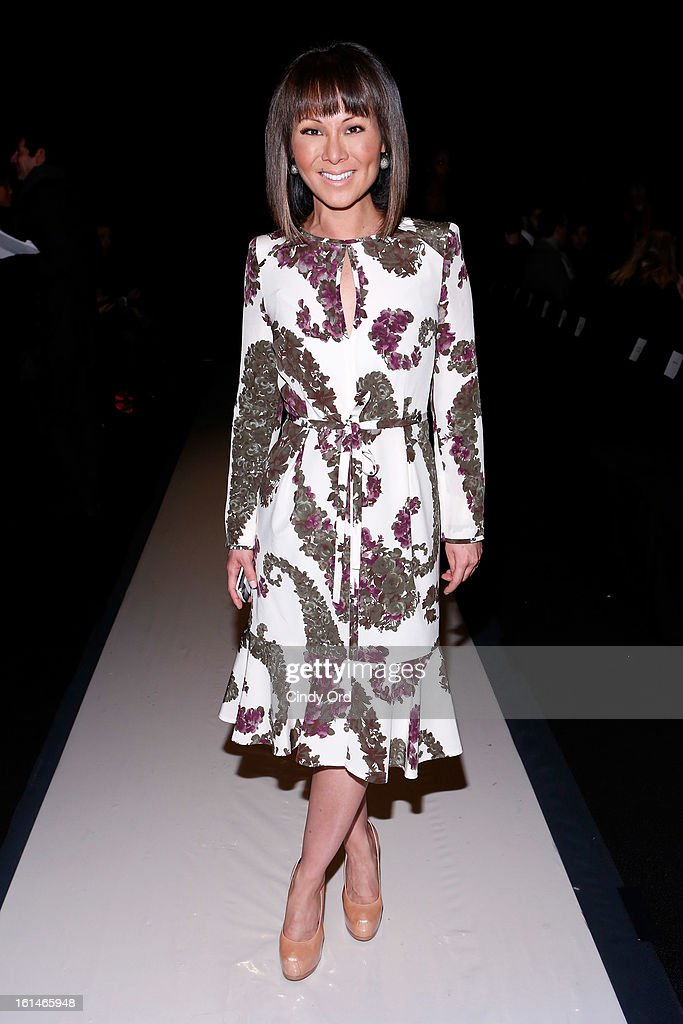 CNN correspondent Alina Cho attends the Carolina Herrera Fall 2013 fashion show during Mercedes-Benz Fashion Week at The Theatre at Lincoln Center on February 11, 2013 in New York City.