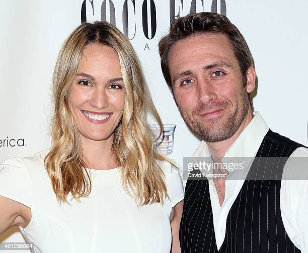 Correspondent Ashlan Gorse and husband filmmaker Philippe Cousteau Jr attend Coco Eco Magazine's launch of it's Earth Rocks debut print issue at Roy...