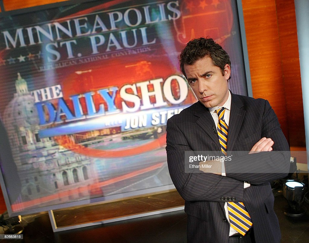 Correspondent Jason Jones poses after a rehearsal for the taping of Comedy Central's 'The Daily Show with Jon Stewart: Restoring Honor & Dignity to the White House' at the McNally Smith College of Music September 5, 2008 in St. Paul, Minnesota. The show is being taped in St. Paul during the week of the Republican National Convention.