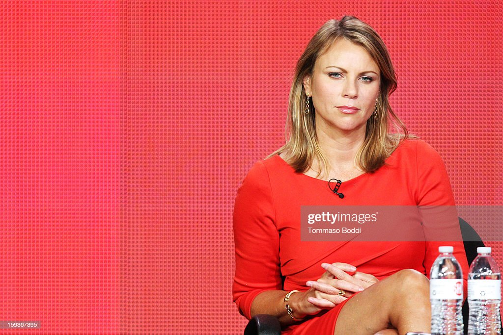 Correspondent Lara Logan of the TV show '60 Minutes Sports' attends the 2013 TCA Winter Press Tour CW/CBS panel held at The Langham Huntington Hotel and Spa on January 12, 2013 in Pasadena, California.