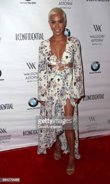 TV correspondent Sibley Scoles attends Los Angeles Confidential Women of Influence Tea hosted by Neve Campbell at the Waldorf Astoria Beverly Hills...