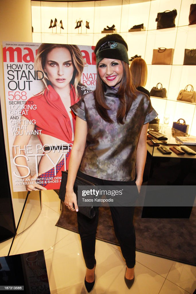Corri McFadden at the Marie Claire & Emporio Armani Event on November 7, 2013 in Chicago, Illinois.