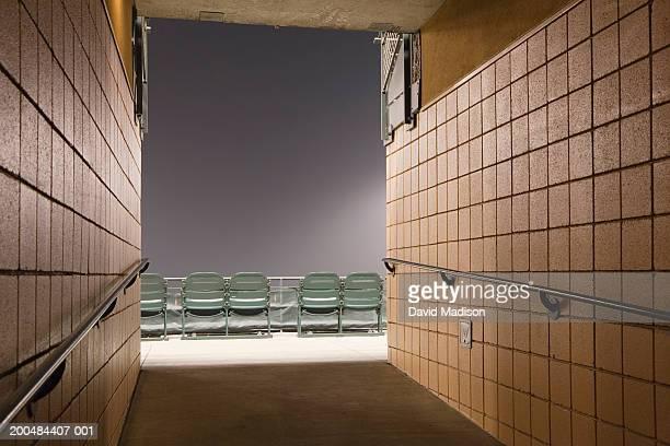 Corridor and empty seats in stadium