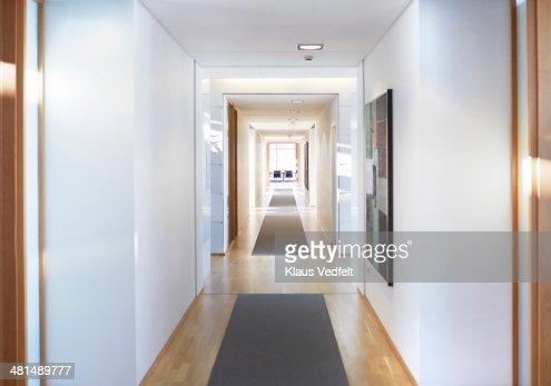 Corridor at luxury office building