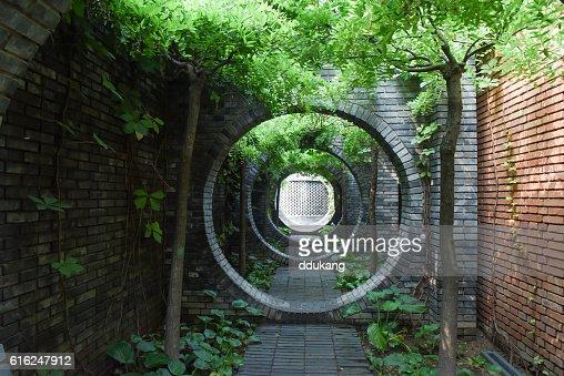 Corridor in Beijing : Foto de stock