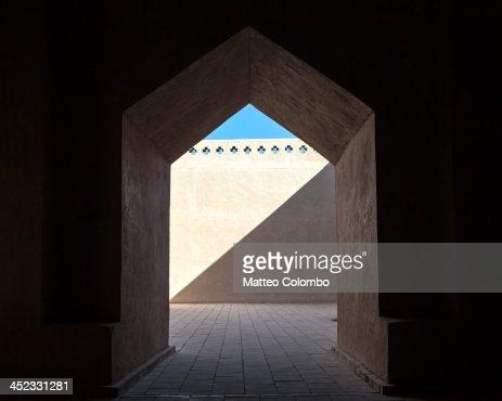 Corridor inside uyghur mosque, Xinjiang, China