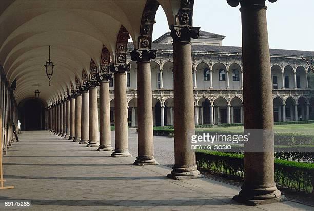 Corridor of an university Milan State University Milan Lombardy Italy