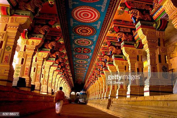 corridor of Ramanathaswamy temple,Tamilnadu, India