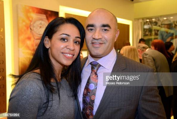 Corrina Martinez and Victor Haydel attend the OMEGA boutique opening at Phipps Plaza on January 17 2013 in Atlanta Georgia