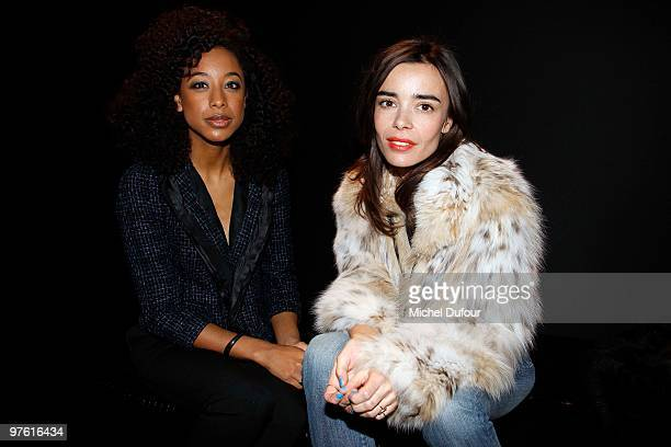 Corrine Bailey Rae and Elodie Bouchez attend the Louis Vuitton Ready to Wear show as part of the Paris Womenswear Fashion Week Fall/Winter 2011 at...