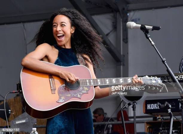 Corrine Bailey Rae performs onstage during day 4 of the 2017 New Orleans Jazz Heritage Festival at Fair Grounds Race Course on May 4 2017 in New...