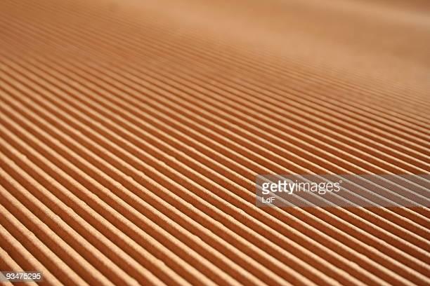 Corrugated cardboard diagonal