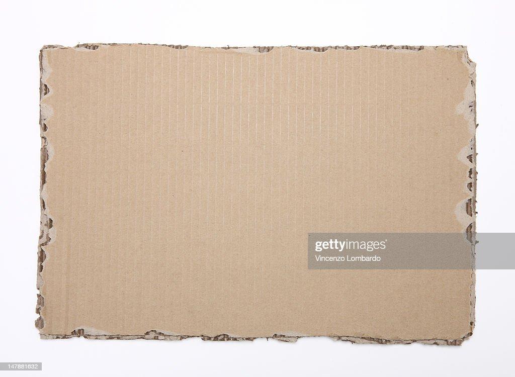 Corrugated cardboard on a white cackground