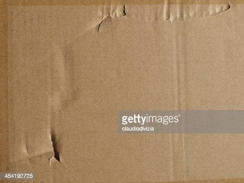 Papelão Corrugado : Foto de stock