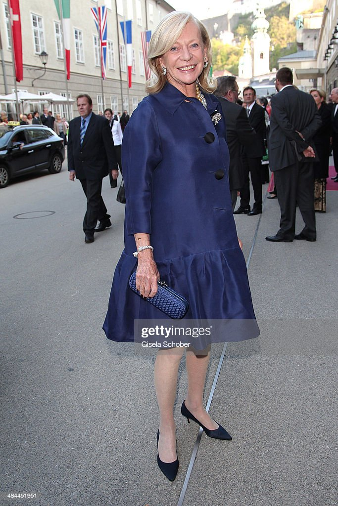 Corry Mueller-Vivil attends the opening of the easter festival 2014 (Osterfestspiele) on April 12, 2014 in Salzburg, Austria.