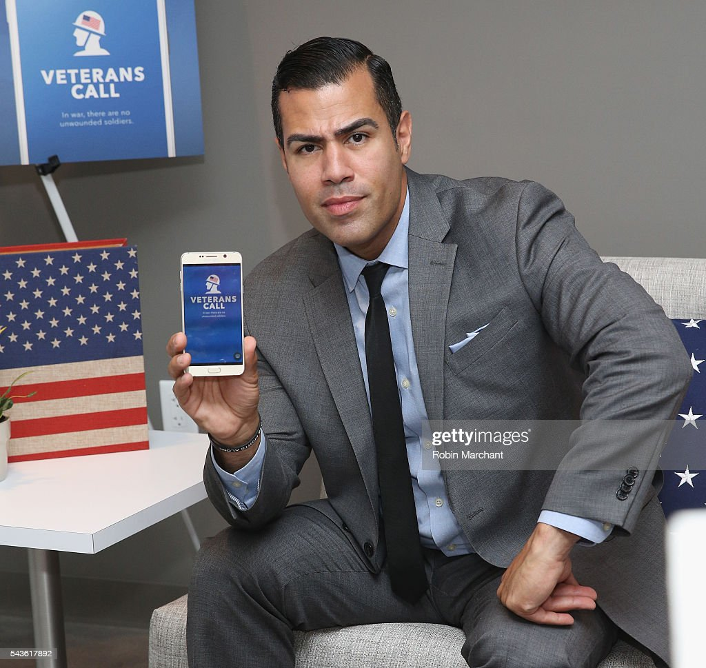 J.W. Cortes attends Veterans Call Launches July 4th Donation Program For America's Vets And Troops on June 29, 2016 in New York City.