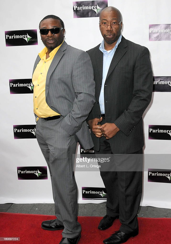 Cortez Simmons and Frank Simmons arrive for the All Ages Valentine Bash 2013 held at Infusion Lounge on February 2, 2013 in Universal City, California.