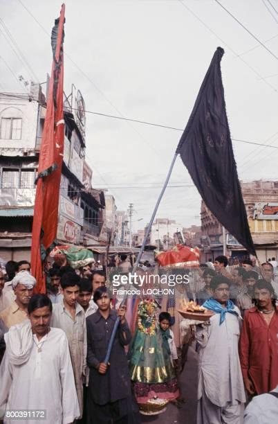Cortège lors d'un mariage en mai 1977 au Pakistan
