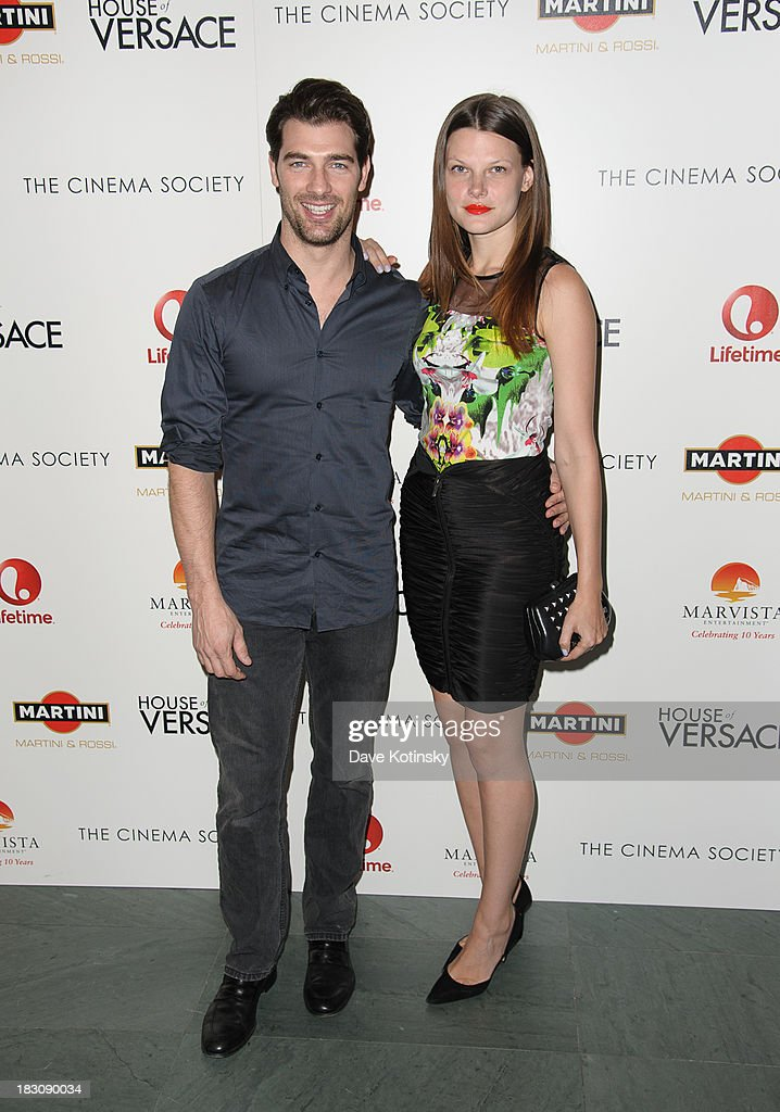 Cory Bond (l) attends Marvista Entertainment And Lifetime With The Cinema Society Host A Screening Of 'House Of Versace' at MOMA on October 3, 2013 in New York City.