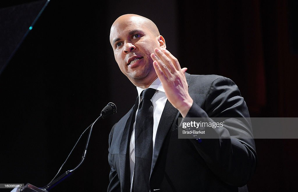 <a gi-track='captionPersonalityLinkClicked' href=/galleries/search?phrase=Cory+Booker&family=editorial&specificpeople=638070 ng-click='$event.stopPropagation()'>Cory Booker</a> attends The 2013 Greater New York Human Rights Campaign Gala at The Waldorf=Astoria on February 2, 2013 in New York City.