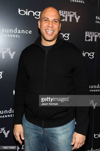 Cory Booker mayor of Newark New Jersey attends the Corey Booker Panel At Bing Bar on January 23 2011 in Park City Utah