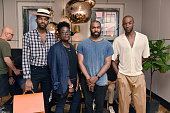 Cory Chenier Alex Williams Shannon Stokes and Jae Joseph attend Tom Dixon Celebrates New Store with Howard Street Party at The Shop New York on July...