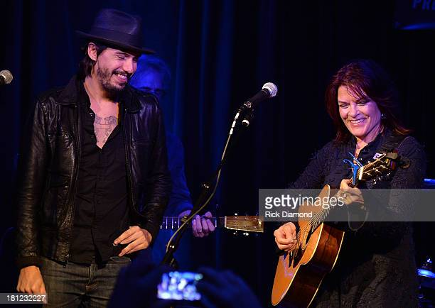 Cory Chisel joins Roseanne Cash at 3rd Lindsley as part of the 14th Annual Americana Music Festival Conference Festival Day 2 on September 19 2013 in...