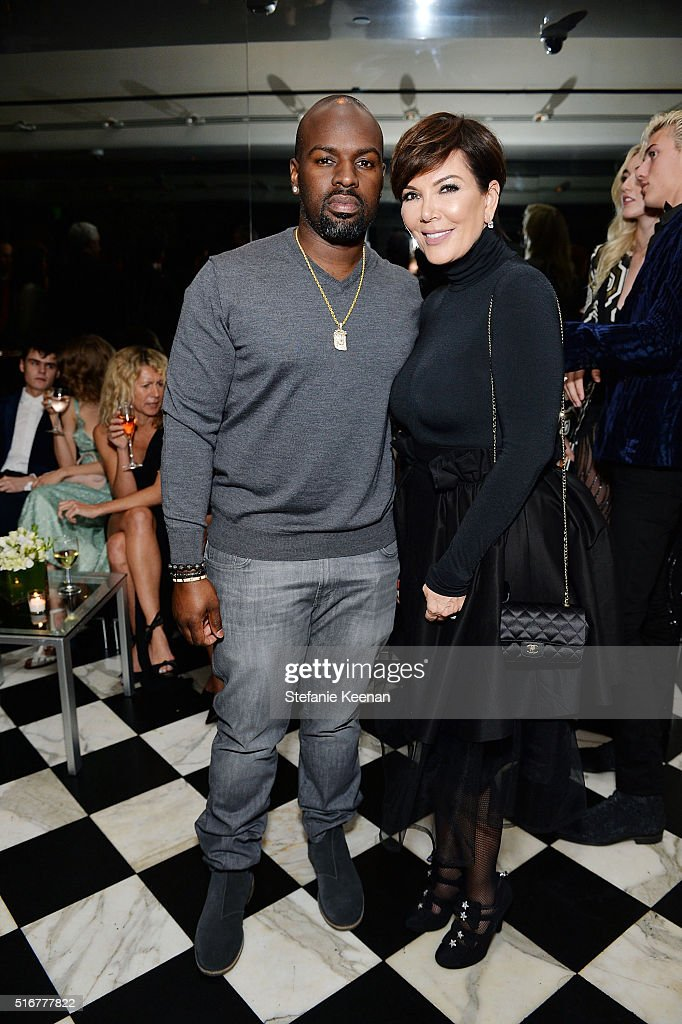 Cory Gamble and Kris Jenner attend The Daily Front Row Fashion Los Angeles Awards Private Dinner Hosted By Eva Chow And Carine Roitfeld at Mr Chow on March 20, 2016 in Beverly Hills, California.
