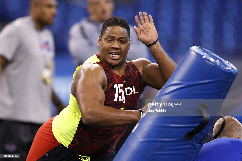 Cory Grissom of South Florida works out during the 2013 NFL Combine at Lucas Oil Stadium on February 25, 2013 in Indianapolis, Indiana.