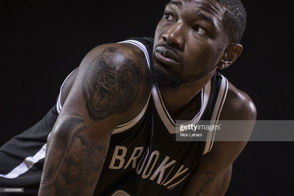 <a gi-track='captionPersonalityLinkClicked' href=/galleries/search?phrase=Cory+Jefferson&family=editorial&specificpeople=8783017 ng-click='$event.stopPropagation()'>Cory Jefferson</a> #21 of the Brooklyn Nets poses for a portrait during the 2014 NBA rookie photo shoot at MSG Training Center on August 3, 2014 in Tarrytown, New York.